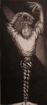 Sword Swallower, etching