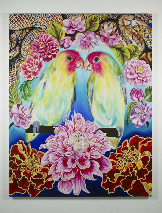 Love Birds - Oil on canvas, 200cm x 160cm