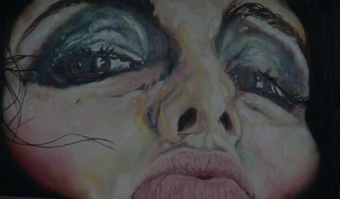 Untitled, oil painting with mixed media on canvas, 290ms x 180cms