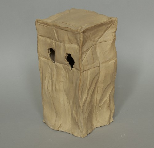 Clay Paper Bag, Fired Stoneware, 2014